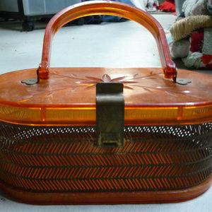 Vintage Bags   1950 Plastic Metal Box Purse   Poshmark 2ceaa66954